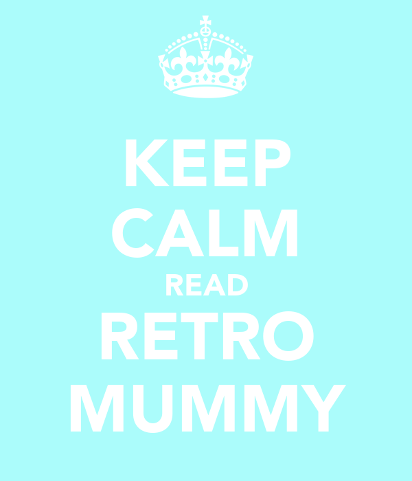 KEEP CALM READ RETRO MUMMY