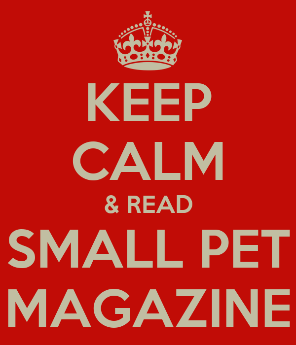 KEEP CALM & READ SMALL PET MAGAZINE