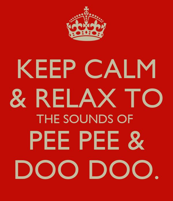 KEEP CALM & RELAX TO THE SOUNDS OF  PEE PEE & DOO DOO.