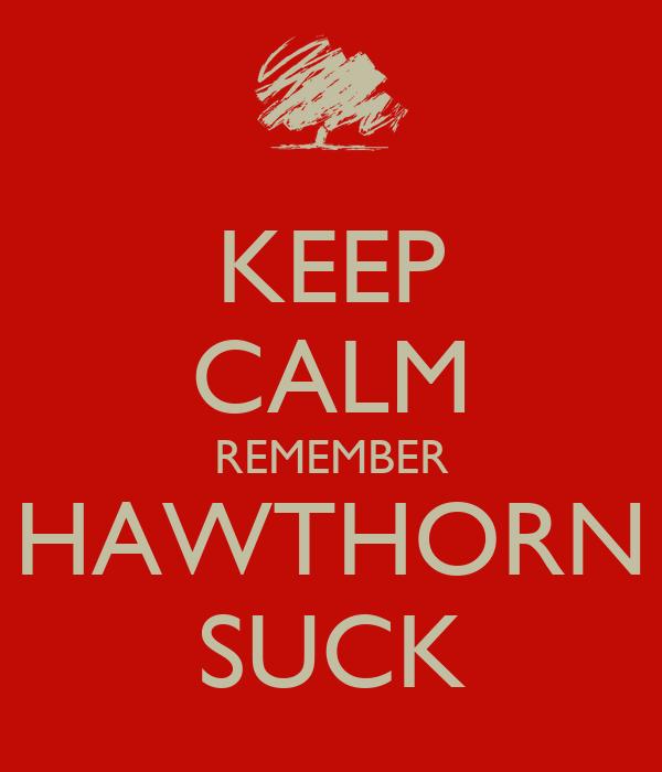 KEEP CALM REMEMBER HAWTHORN SUCK