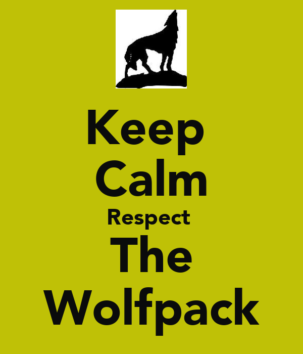 Keep  Calm Respect  The Wolfpack
