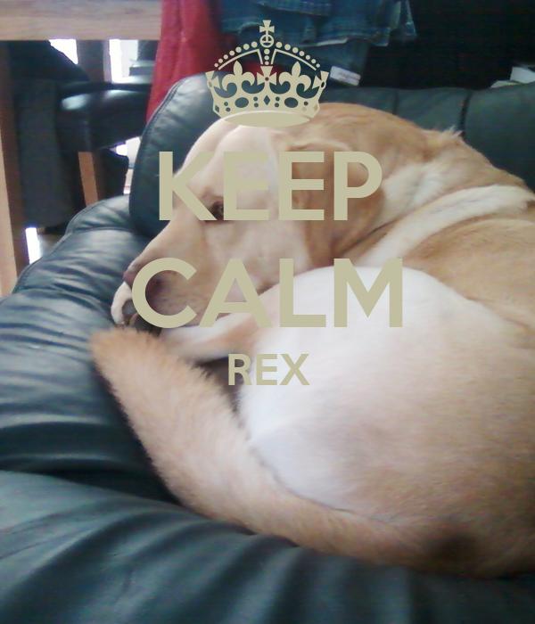 KEEP CALM REX