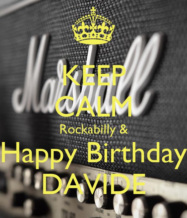 KEEP CALM Rockabilly & Happy Birthday DAVIDE