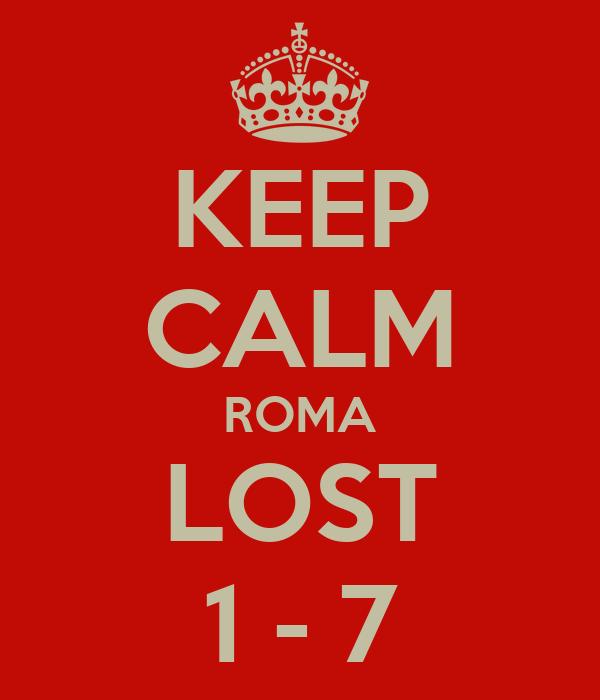 KEEP CALM ROMA LOST 1 - 7