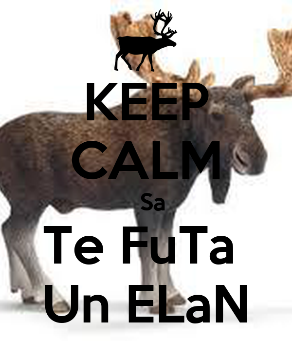 KEEP CALM   Sa Te FuTa  Un ELaN