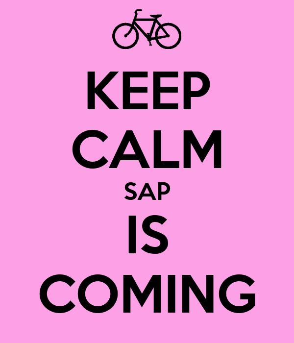 KEEP CALM SAP IS COMING