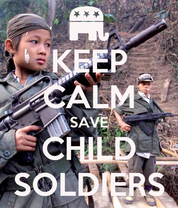 KEEP CALM SAVE CHILD SOLDIERS
