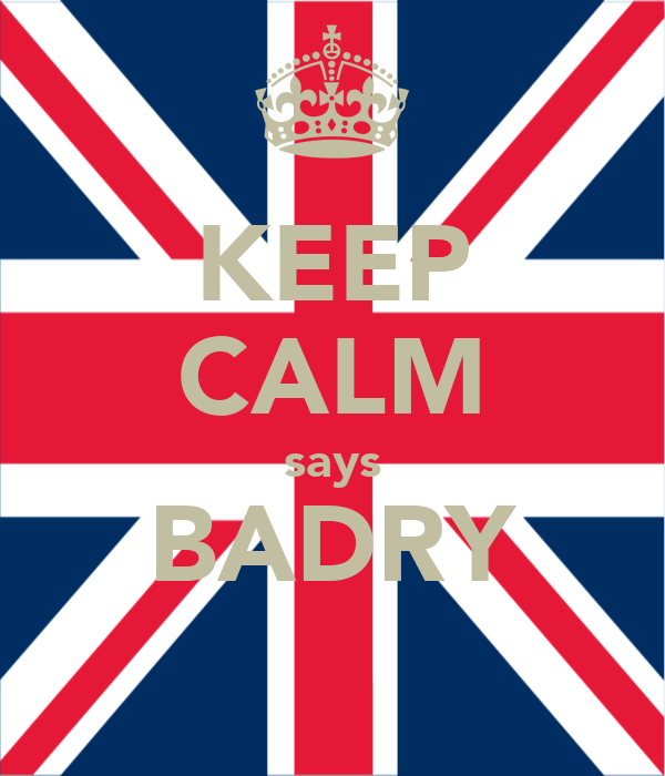 KEEP CALM says BADRY