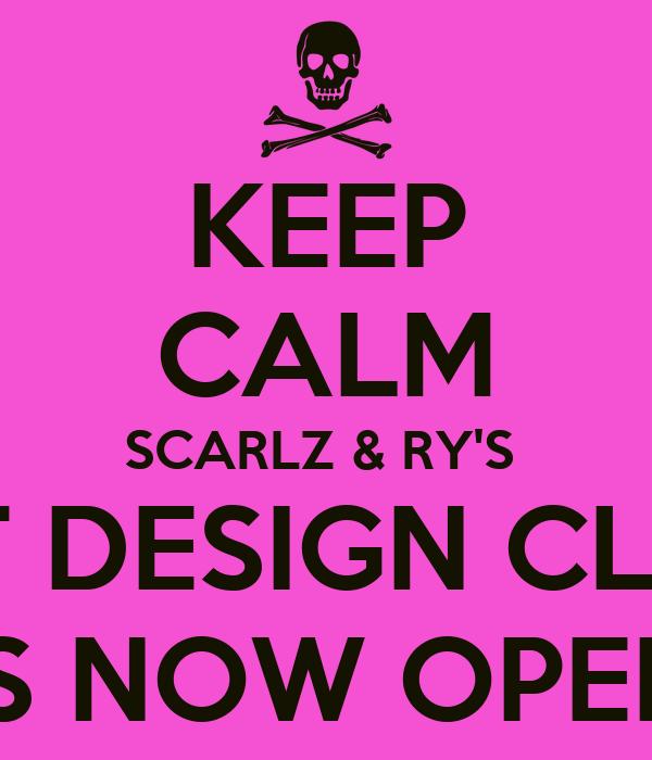 KEEP CALM SCARLZ & RY'S  PRE-ORDER ART DESIGN CLOTHING ALBUM IS NOW OPEN