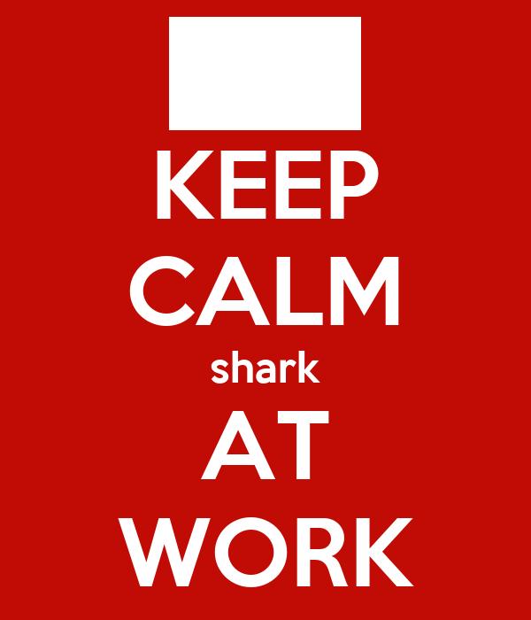 KEEP CALM shark AT WORK
