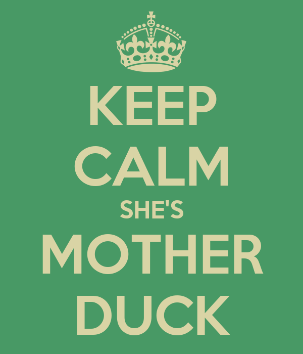 KEEP CALM SHE'S MOTHER DUCK