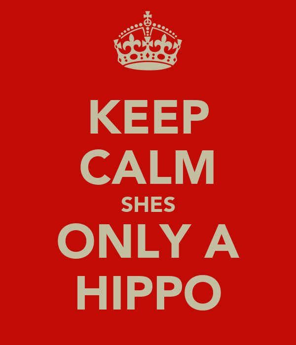 KEEP CALM SHES ONLY A HIPPO