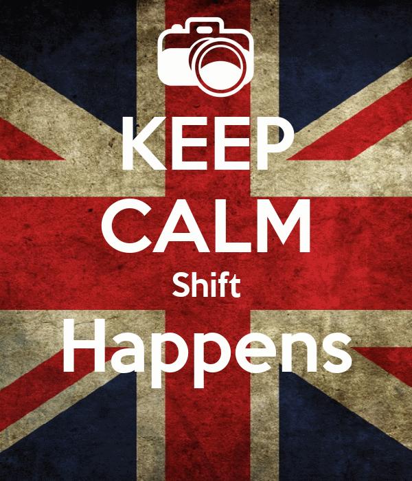 KEEP CALM Shift Happens