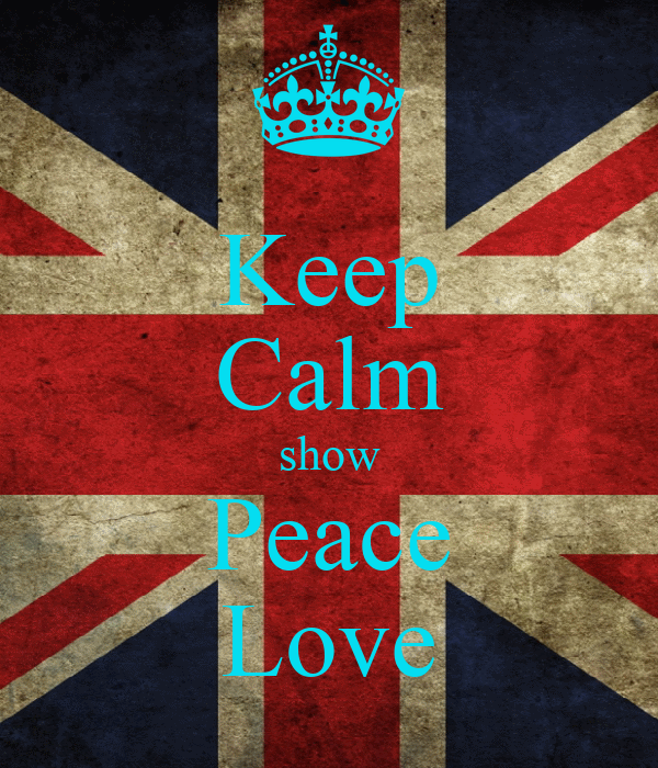 Keep Calm show Peace Love