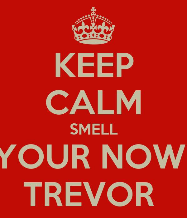 KEEP CALM SMELL YOUR NOW  TREVOR