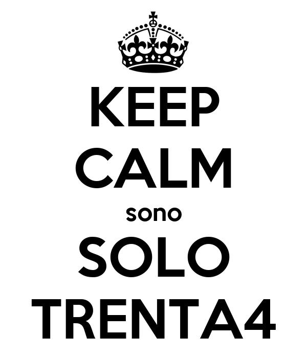 KEEP CALM sono SOLO TRENTA4