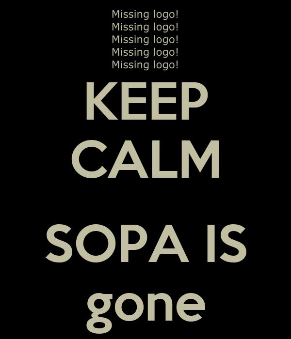 KEEP CALM  SOPA IS gone