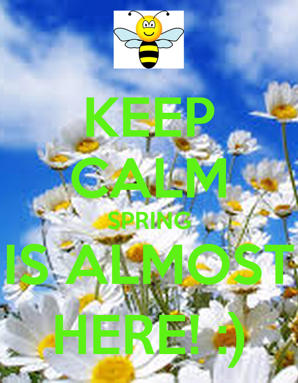KEEP CALM SPRING IS ALMOST HERE! :)