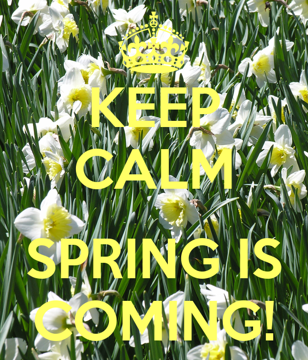KEEP CALM  SPRING IS COMING!