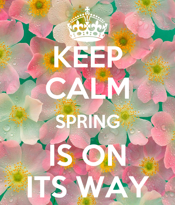 KEEP CALM SPRING IS ON ITS WAY