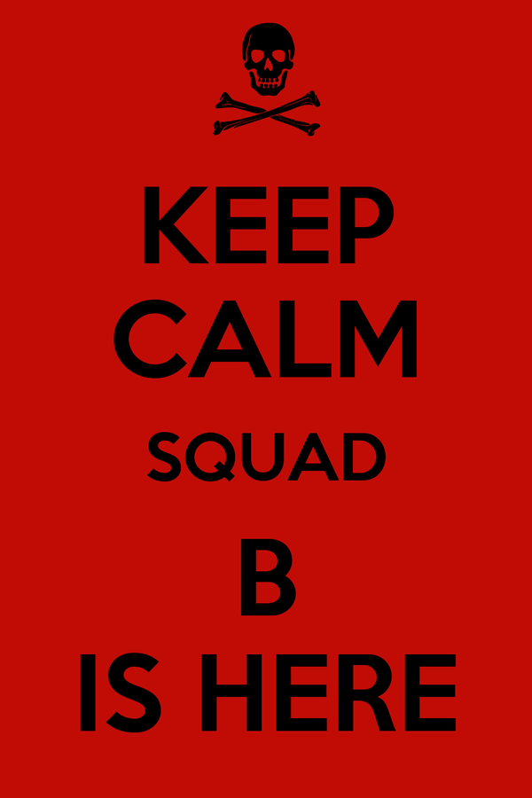 KEEP CALM SQUAD B IS HERE