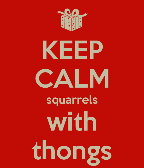 KEEP CALM squarrels with thongs