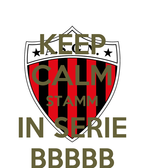 KEEP CALM STAMM IN SERIE BBBBB