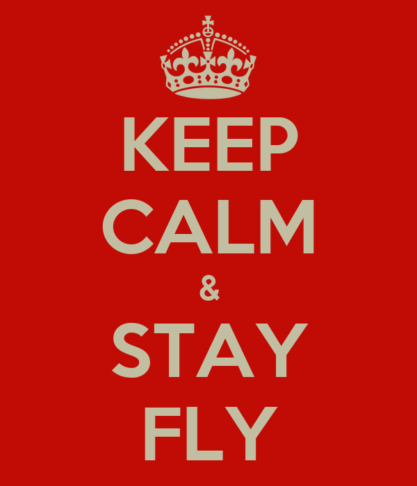 KEEP CALM & STAY FLY