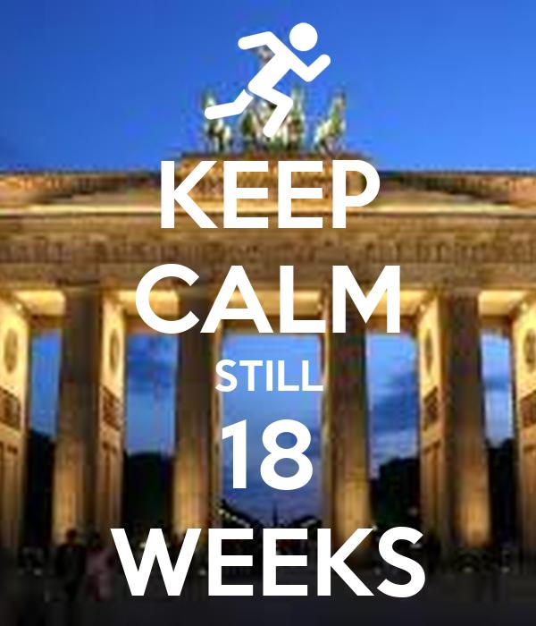 KEEP CALM STILL 18 WEEKS