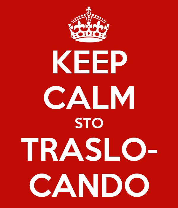 KEEP CALM STO TRASLO- CANDO