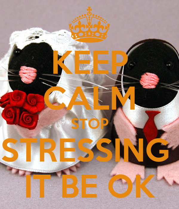 KEEP CALM STOP STRESSING  IT BE OK