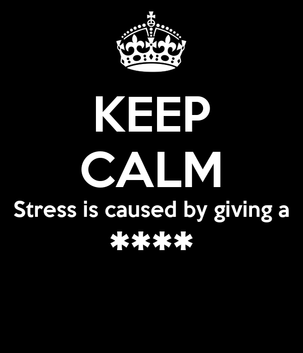 KEEP CALM Stress is caused by giving a ****