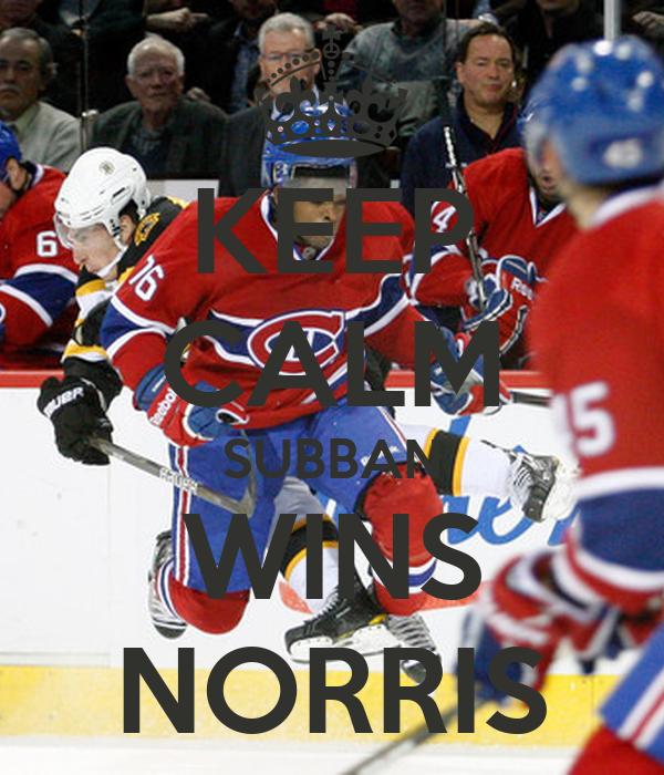 KEEP CALM SUBBAN WINS NORRIS