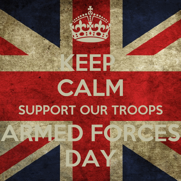 KEEP  CALM SUPPORT OUR TROOPS ARMED FORCES DAY