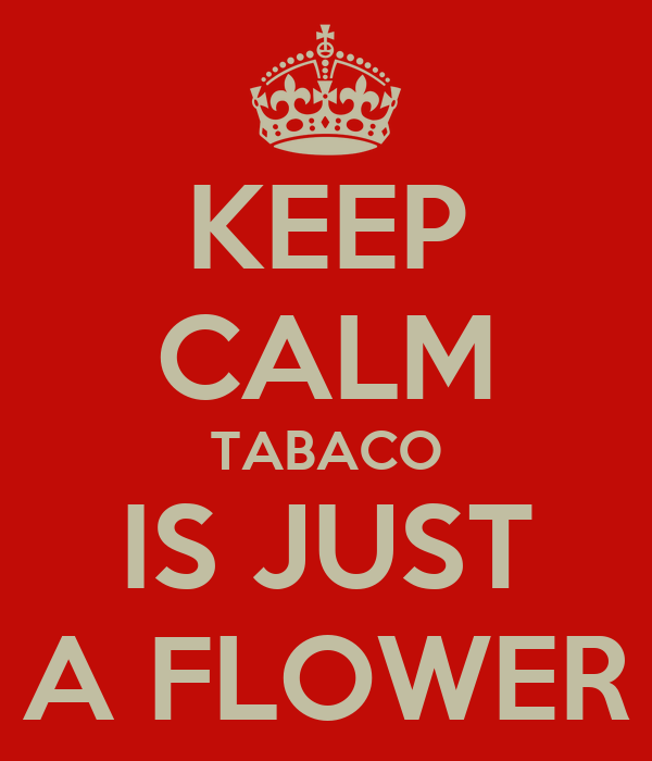 KEEP CALM TABACO IS JUST A FLOWER