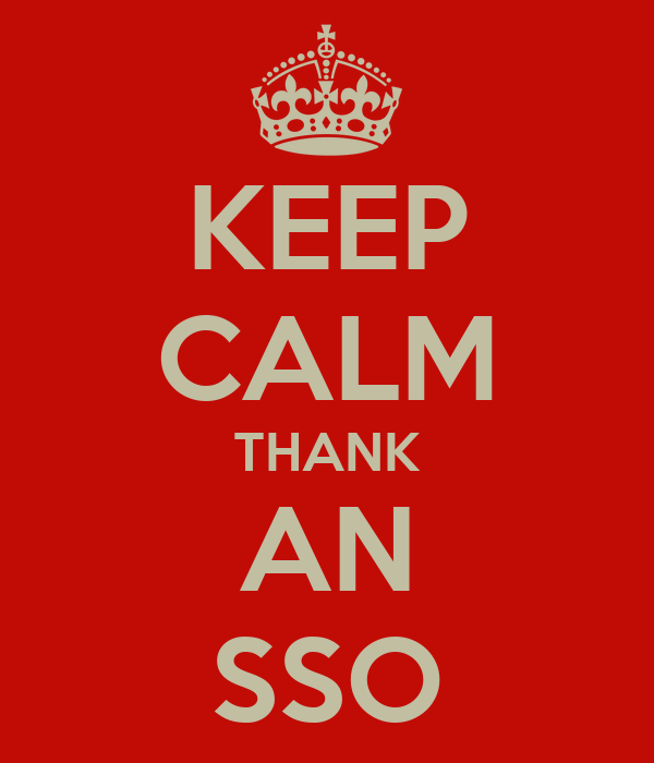 KEEP CALM THANK AN SSO
