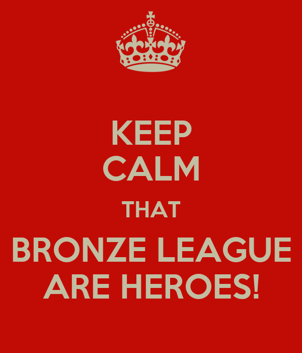 KEEP CALM THAT BRONZE LEAGUE ARE HEROES!