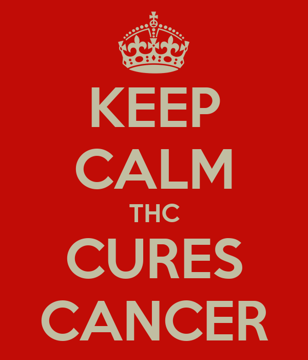 KEEP CALM THC CURES CANCER
