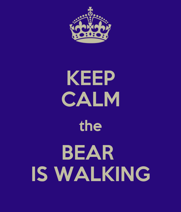 KEEP CALM the BEAR  IS WALKING