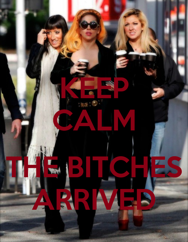 KEEP CALM  THE BITCHES ARRIVED