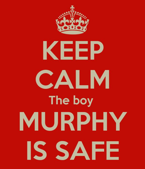 KEEP CALM The boy  MURPHY IS SAFE