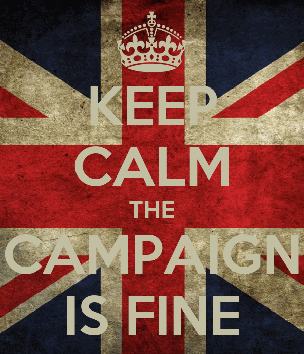 KEEP CALM THE CAMPAIGN IS FINE