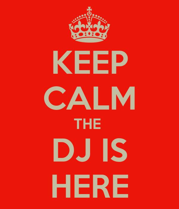 KEEP CALM THE  DJ IS HERE