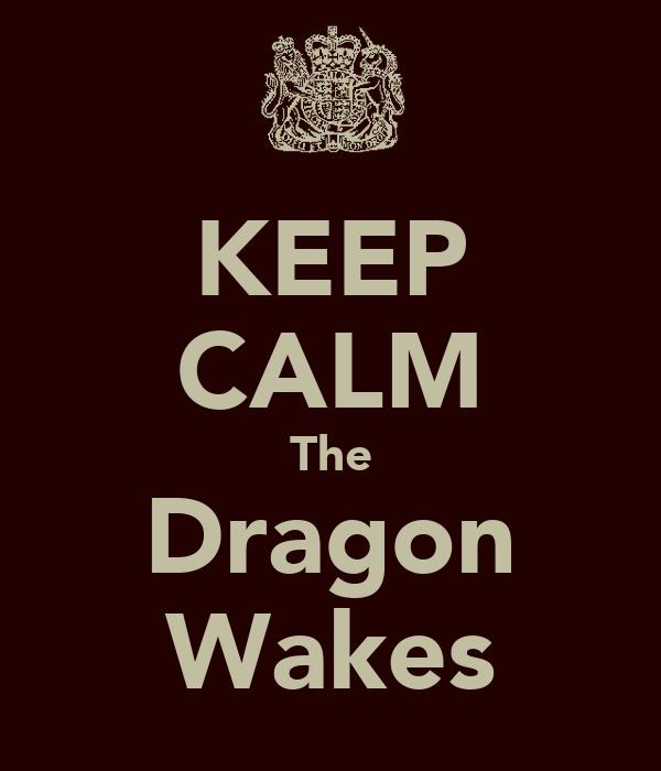 KEEP CALM The Dragon Wakes