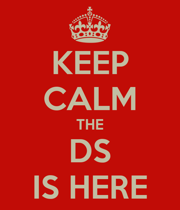 KEEP CALM THE DS IS HERE