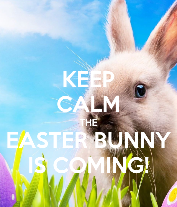 KEEP CALM THE EASTER BUNNY IS COMING!