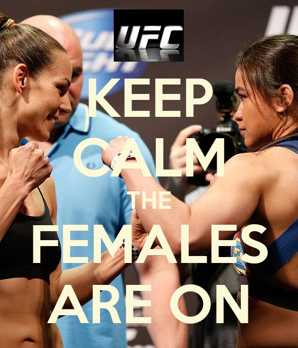KEEP CALM THE FEMALES ARE ON