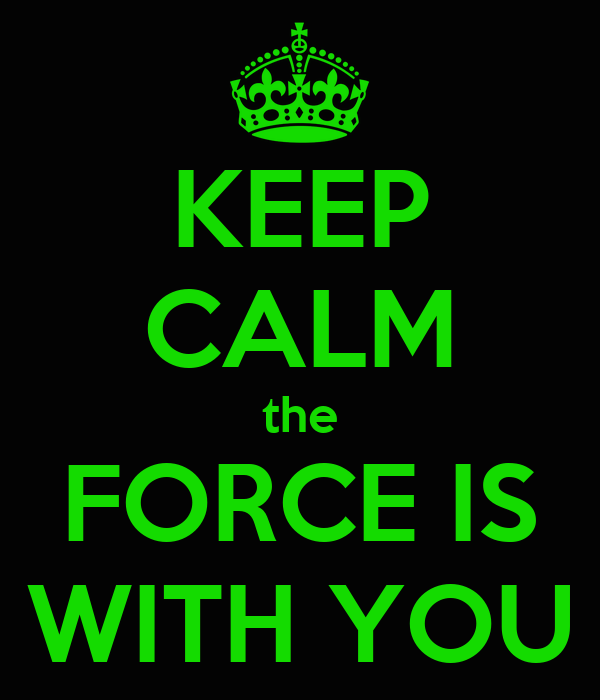 KEEP CALM the FORCE IS WITH YOU