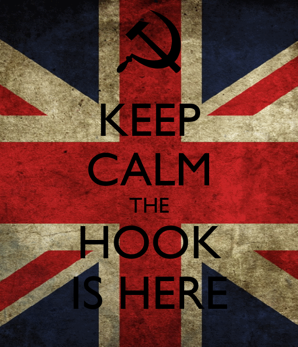 KEEP CALM THE HOOK IS HERE
