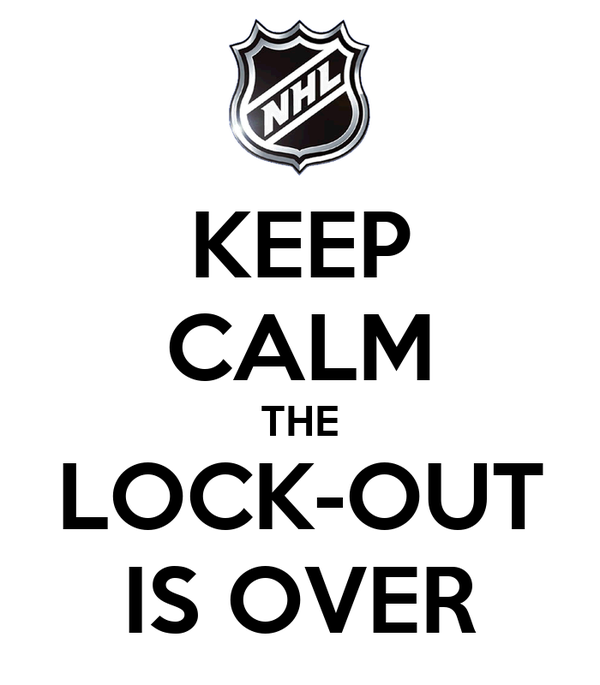 KEEP CALM THE LOCK-OUT IS OVER
